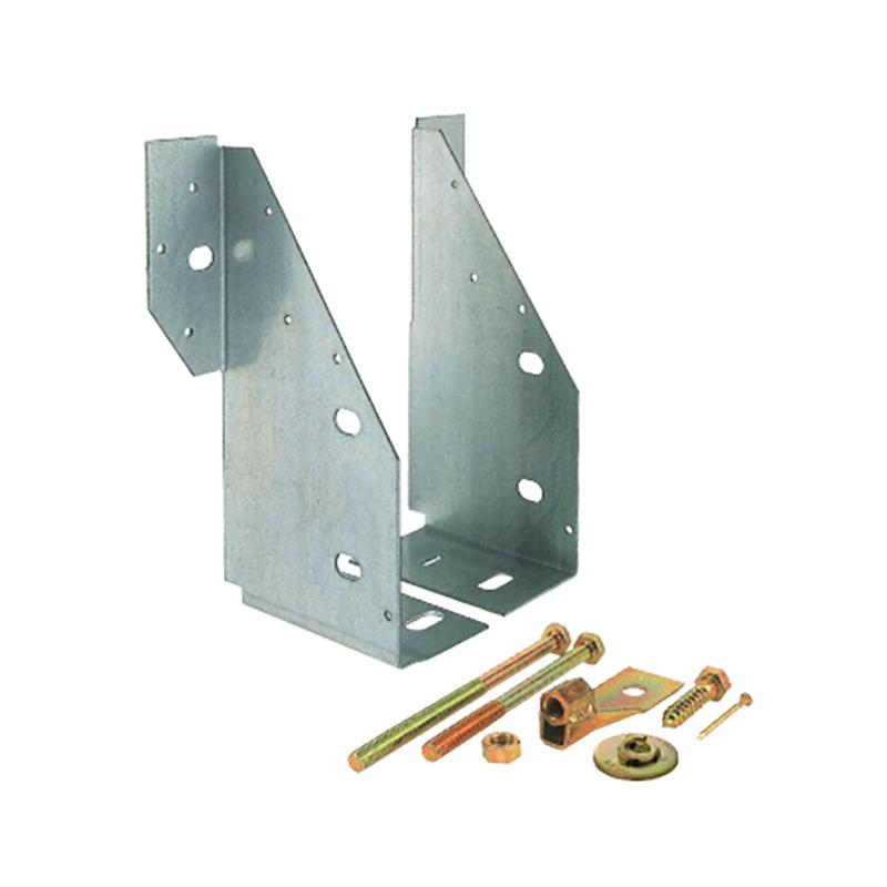 【代引不可】【6組】 カネシン ストレッチ梁受金物 SH-240 [横架材と柱、あるいは横架材どうしの接合を、専用の羽子板ボルトを介して補強する金物] アミ