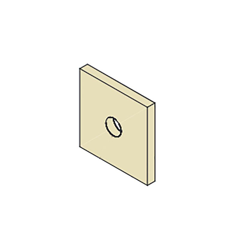 【代引不可】【50枚】角座金 W9.0×80 Zマーク 軸組工法用 600210 カネシン アミ