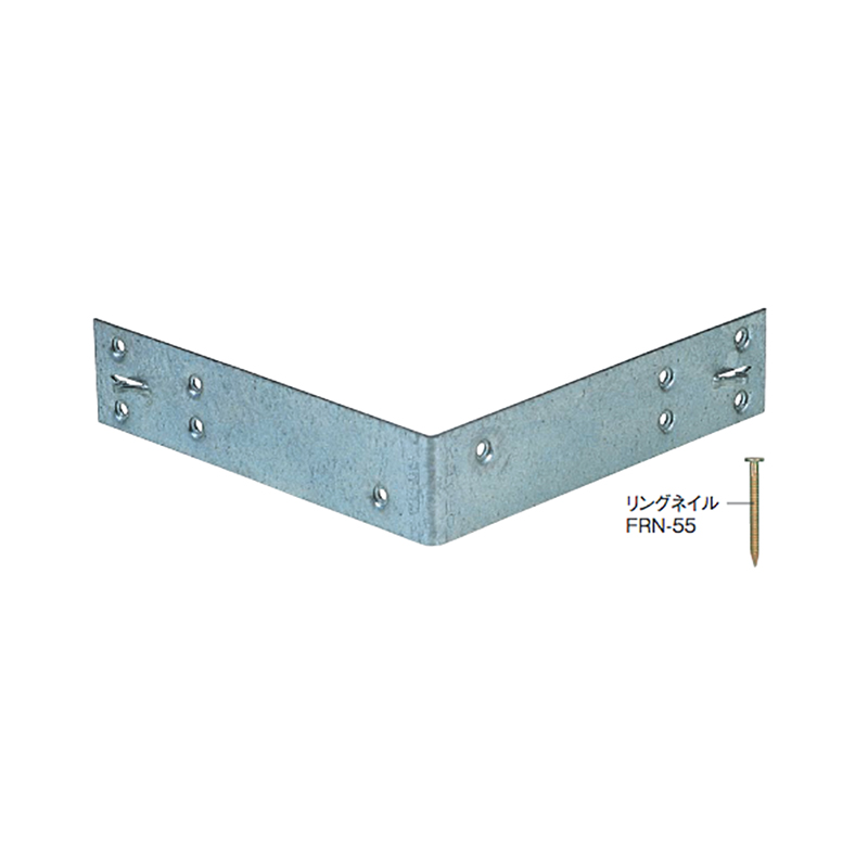 【代引不可】【50枚】金折り金物 釘止めかね折り金物 KL-210 [隅通し柱と2方向の胴差を接合します] 082300 カネシン アミ