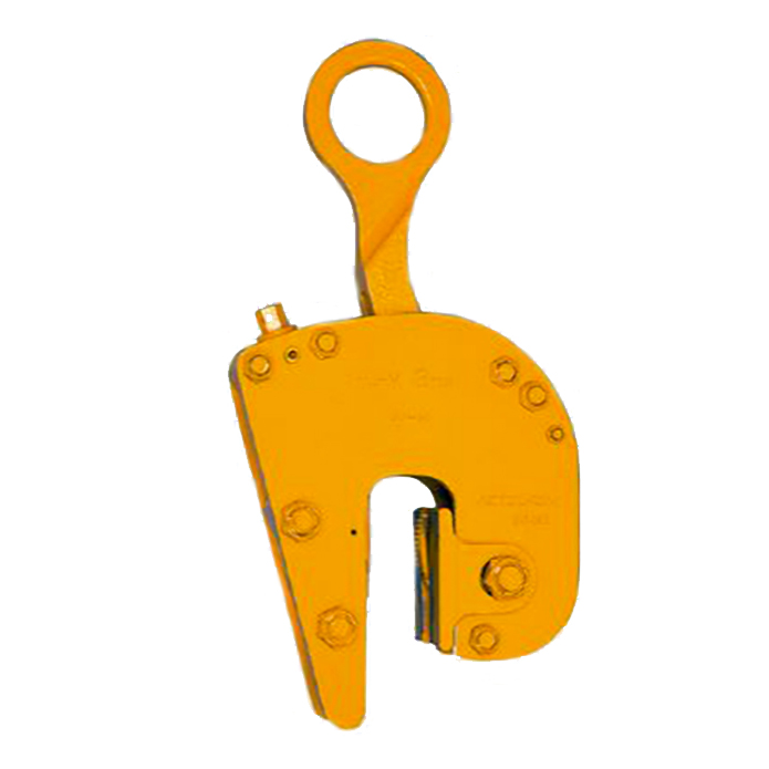 【代引不可】三木ネツレン 無傷竪吊クランプ FL-V型 安全歯カム付 FLV1 使用荷重1t クランプ範囲0~25mm 傷をつけずに吊れるクランプ コT