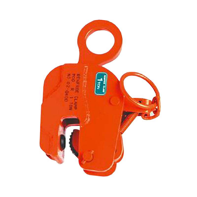 【代引不可】日本クランプ 縦吊り専用クランプ Rタイプ ラッチ式ロック装置付 R2 使用荷重 2t 使用有効寸法 3~35mm コT