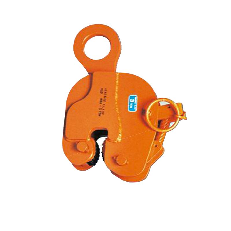 【代引不可】日本クランプ 縦吊り専用クランプ WRAタイプ ラッチ式ロック装置付 軽量鋼矢板引抜き専用 WRA2 使用荷重 2t 使用有効寸法 3~20mm コT