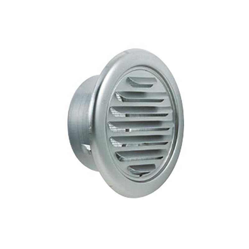 【代引不可】【24個】丸型ガラリ 150φ UK-SGN 150S-DK [塩ビパイプにはめ込み、建物の外壁面に取付ける換気金物] 750155 カネシン アミ