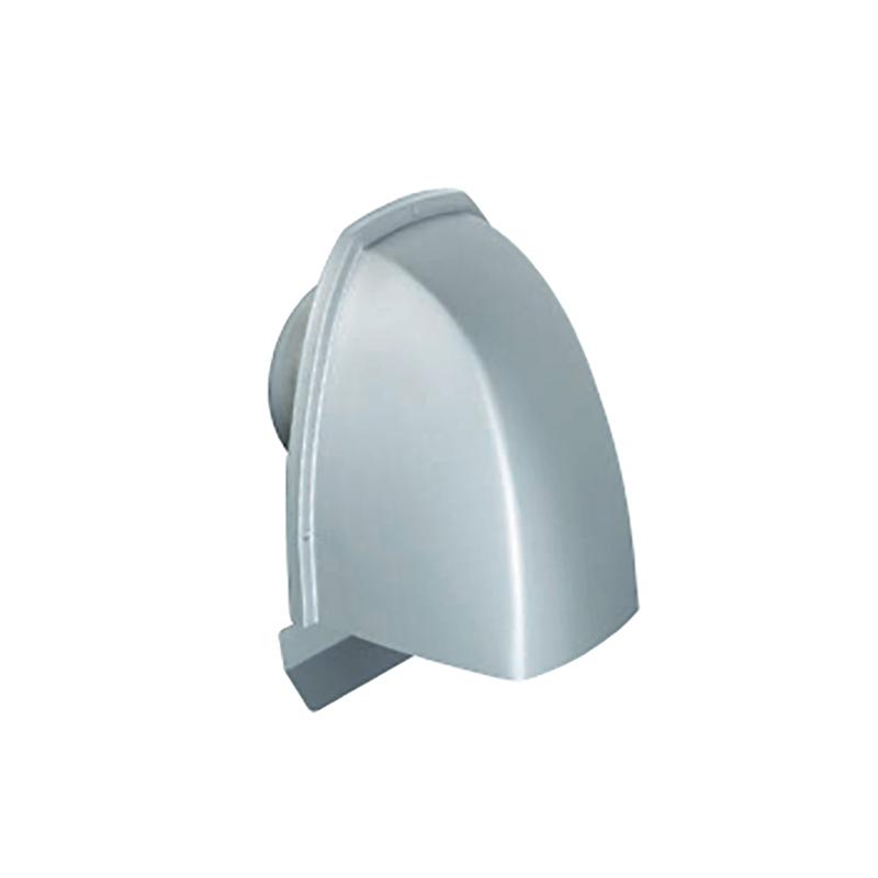【代引不可】【8個】UA深型フード付キャップ 150φ UK-UAEN 150S-MG [塩ビパイプにはめ込み、建物の外壁面に取付ける換気金物] 755095 カネシン アミ