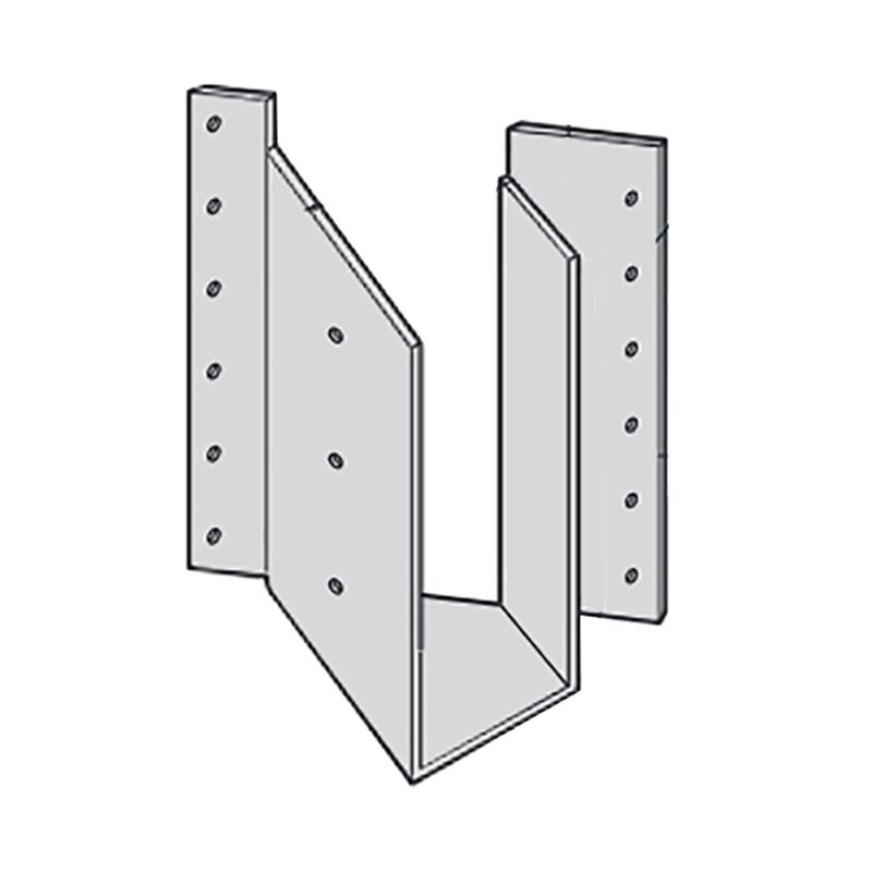 【代引不可】【10個】 カネシン 梁受け金物 BHS2-210R Cマーク 枠組壁工法用 [45度に梁を緊結する場合の接合部に支持点がない場合の梁の緊結] アミ