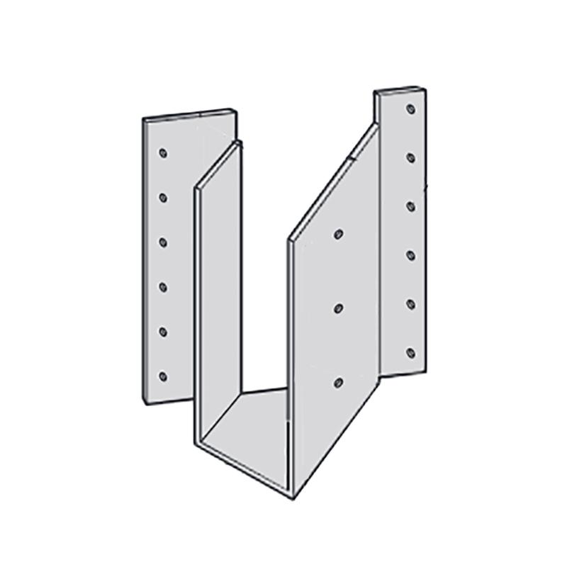 【代引不可】【10個】 カネシン 梁受け金物 BHS2-210L Cマーク 枠組壁工法用 [45度に梁を緊結する場合の接合部に支持点がない場合の梁の緊結] アミ