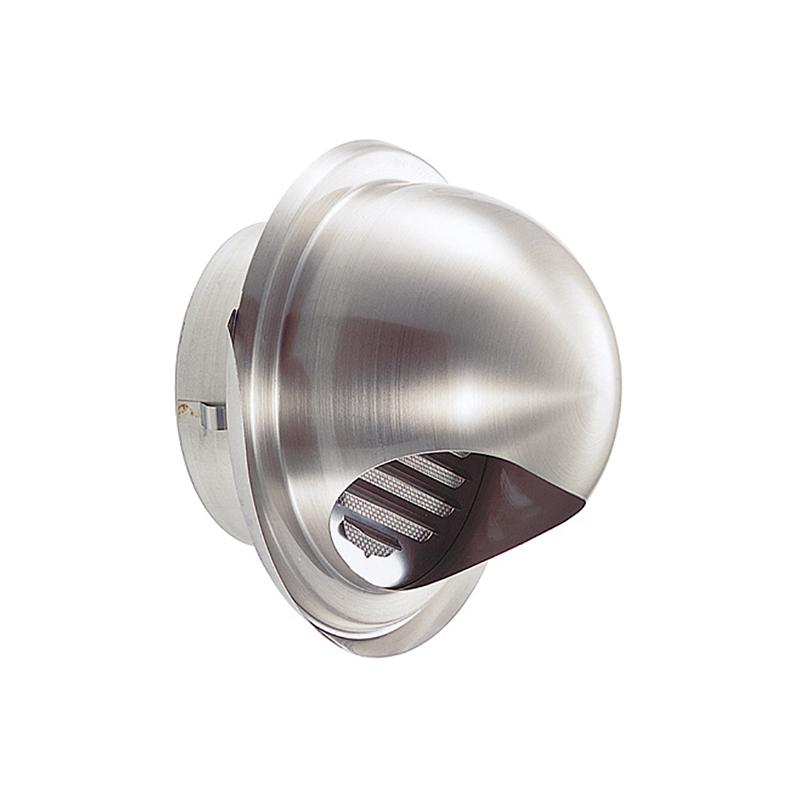 【24個】 換気口 自然給排気口部品 外壁換気口 ステンレス製 丸型フード水切付ガラリ 溶接組立式 UK-GEN100S-HL ヘアライン 宇佐美工業 アミD