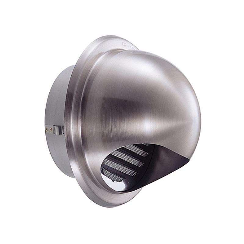 【24個】 換気口 自然給排気口部品 外壁換気口 ステンレス製 丸型フード付ガラリ 溶接組立式 UK-GSN125S-HL ヘアライン 宇佐美工業 アミD