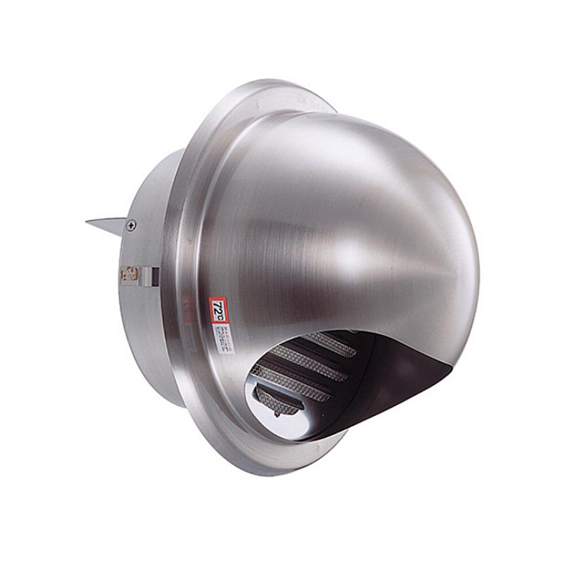【60個】 換気口 自然給排気口部品 外壁換気口 防火ダンパー付 ステンレス製 丸型フード付ガラリ 溶接組立式 UK-GSN75SHD-HL ヘアライン 宇佐美工業 アミD