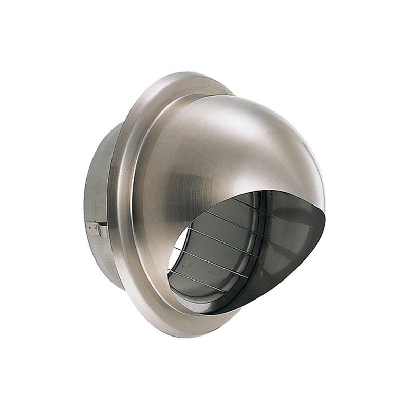 【12個】 換気口 強制給排気口部品 外壁換気口 ステンレス製 丸型フード付ガラリ 溶接組立式 UK-GSZV150S-HL ヘアライン 宇佐美工業 アミD