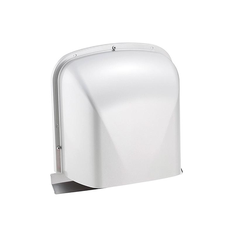 【8個】 換気口 自然給排気口部品 外壁換気口 ステンレス製 M型フード付ガラリ フードビス脱着式 UK-MZEN150B-MG メタリックグレー 宇佐美工業 アミD
