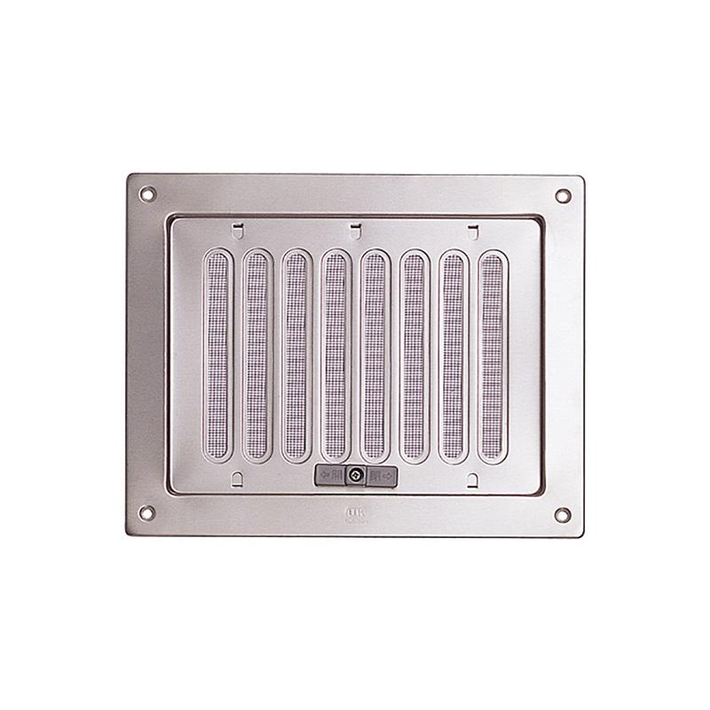 【20セット】 換気口 自然給排気口部品 内外壁用 角型換気口 ステンレス製 (レジスター・ガラリ) Aタイプ UK-RGA1520-BR ブロンズ 宇佐美工業 アミD