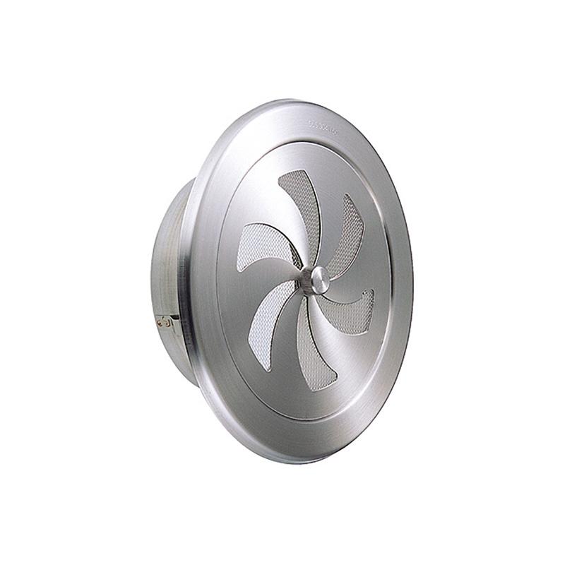【24個】 換気口 自然給排気口部品 内壁換気口 内壁用 ステンレス製 丸型レジスター 溶接組立式 UK-RN125S-HL ヘアライン 宇佐美工業 アミD