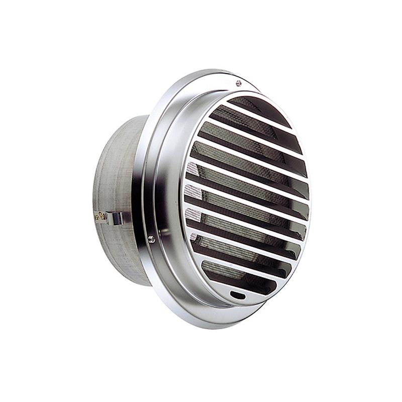 【24個】 換気口 自然給排気口部品 外壁換気口 丸型ガラリ ビス脱着式 UK-SBN100B-MG メタリックグレー [施工位置が低い場合でも安全] 宇佐美工業 アミD