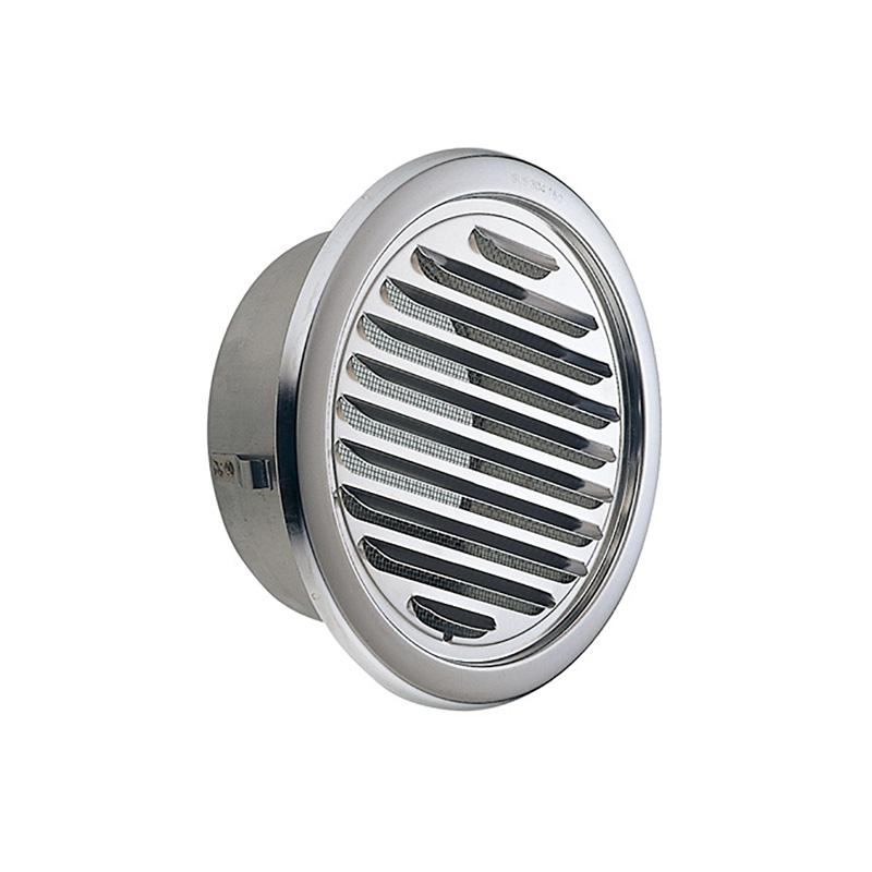 【24個】 換気口 自然給排気口部品 外壁換気口 ステンレス製 丸型ガラリ 溶接組立式 UK-SGN150S-MG メタリックグレー 宇佐美工業 アミD