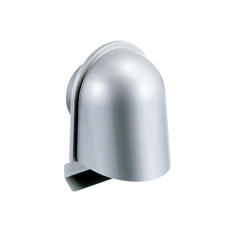 【6個】 換気口 自然給排気口部品 外壁換気口 ステンレス製 UL型フード付ガラリ 溶接組立式 UK-ULZEN150S-MG メタリックグレー 宇佐美工業 アミD