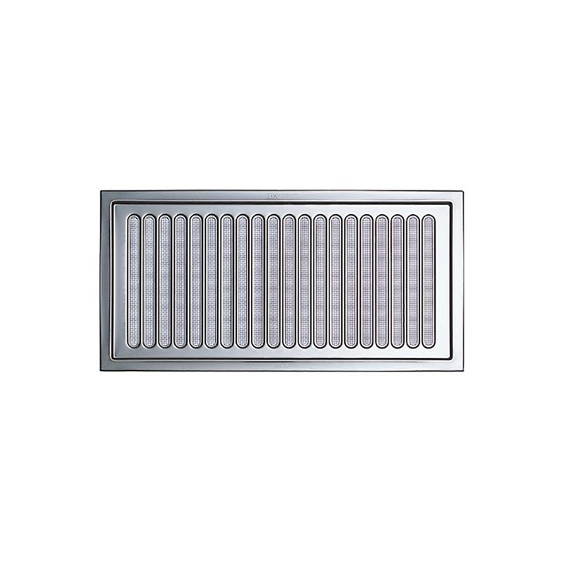 より良い換気で快適な居住空間を 換気口 30枚入 自然給排気口部品 床下換気口 ステンレス製 松 金網なし UK-YM2040-SO シルバー 宇佐美工業 アミD