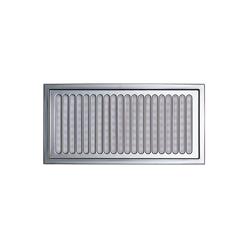【30枚】 換気口 自然給排気口部品 床下換気口 ステンレス製 厚口 金網あり UK-Y2040-SM シルバー 宇佐美工業 アミD