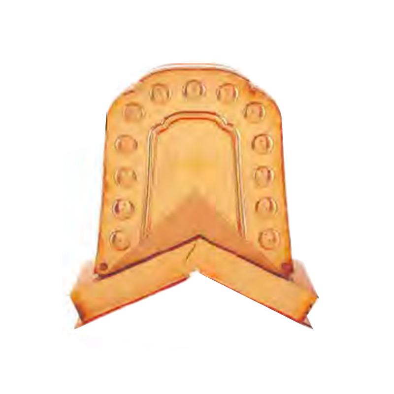 屋根装飾 鬼飾り 海津鬼守護鬼 AE-11 数珠掛型 ステンレス生地色 お写真と実際の生地・色は違います 2個入 勾配自在型 推奨箱棟 W-75型 和風 護国 アミ 代引不可