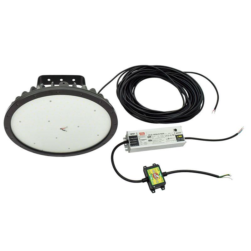 耐熱LED 産業用特殊照明 屋外型 ハイテンプディスク 120W アーム式 吊下げ型 ワイド 昼白色 L120HT-P-H120-50K 日動工業 代引不可