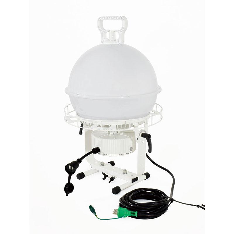 ディスクボール200W 床スタンド式 LED投光器(連結可能) 昼白色 作業用照明 L200ADB-50K 日動工業 代引不可