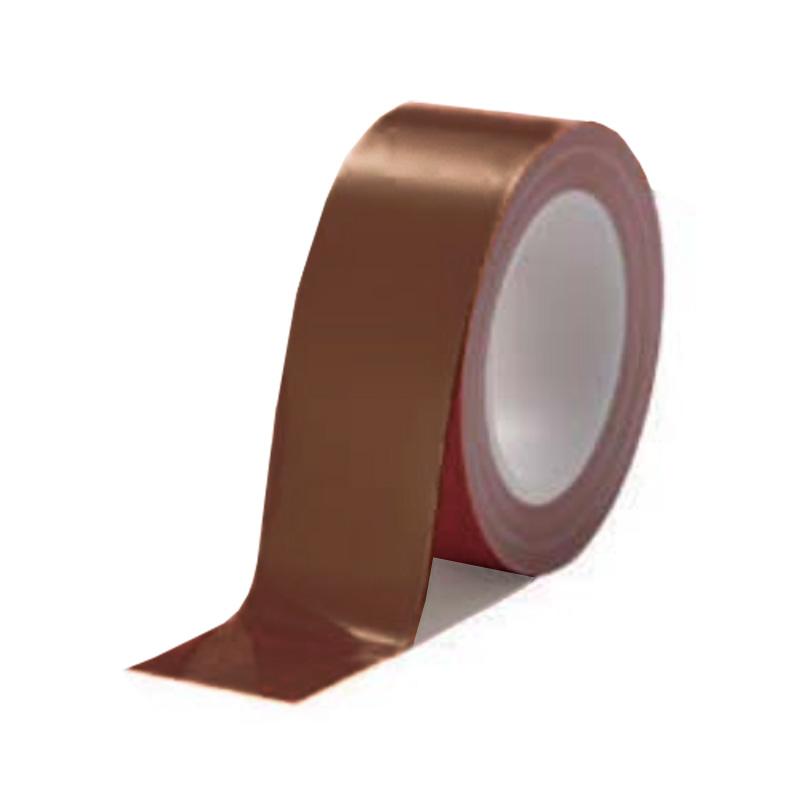 案内ライン ビバスーパーラインテープ 茶 12巻/1ケース LTS50 50mm×20m 総厚306±5 床面 家具 建材 保護 美観維持 ラミネート T原 代引不可