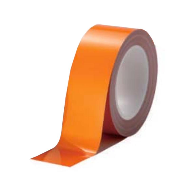 案内ライン ビバスーパーラインテープ 橙 12巻/1ケース LTS50 50mm×20m 総厚306±5 床面 家具 建材 保護 美観維持 ラミネート T原 代引不可