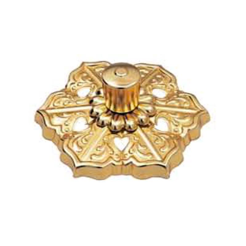 長押飾り 大型 5寸型タイプ 銅製 (金メッキ仕上げ オール金メッキ) 4個入 風格ある金具 護国 アミ 代引不可