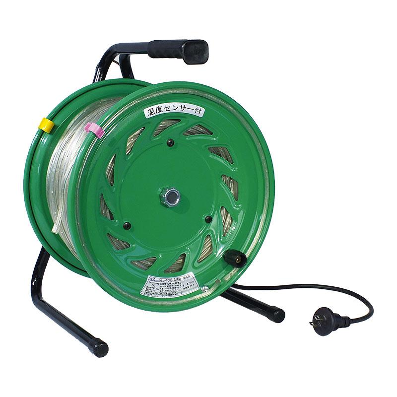LEDラインチューブドラム 点灯タイプ 防雨型 50m 緑 RLL-50S-G 2P 15A 125V 特殊機能リール コードリール 日動工業 代引不可