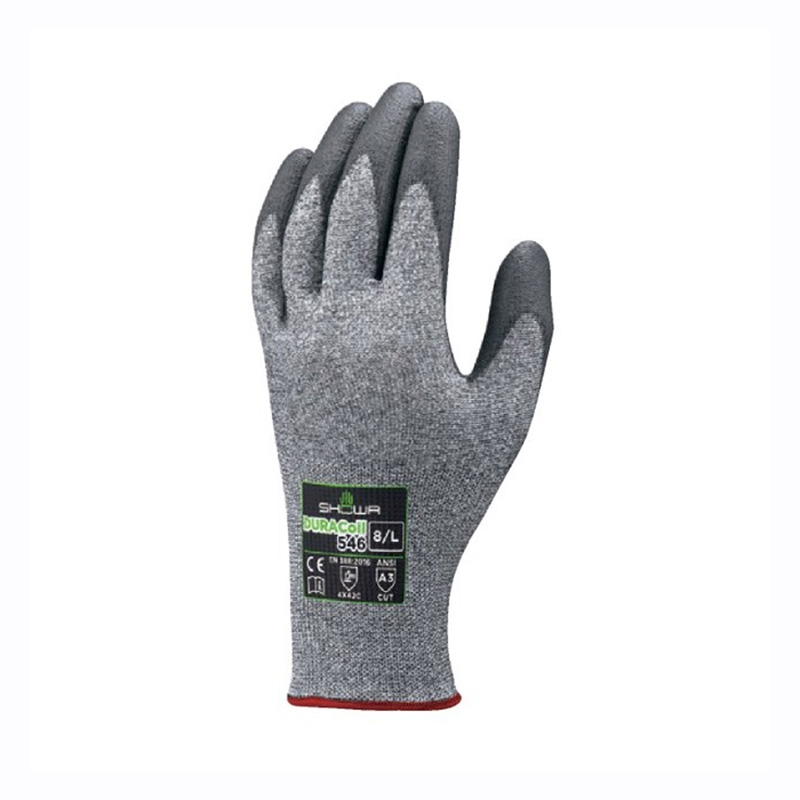 耐切創 手袋 DURACoil デュラコイル 10双 Sサイズ 546 手のひらコート シームレス すべり止め ショーワグローブ 三カD