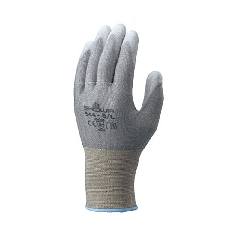 耐切創 低発塵 手袋 簡易包装ケミスターパームFS 10双入 Lサイズ No.544 手のひらコート シームレス すべり止め ショーワグローブ 三カD
