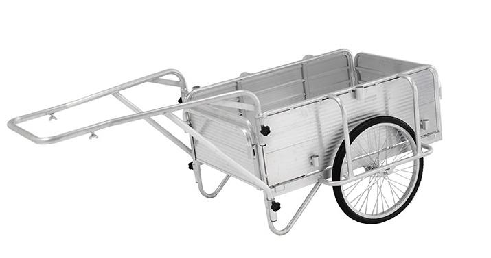 【代引不可】【北海道配送不可】アルミ製 折りたたみ式 リヤカー HKW180 アルインコ 日本製 国産 AL