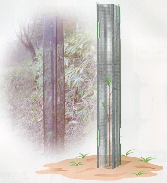 【代引不可】大日本プラスチック ミキガード 幼木用 黒 MY-2 高さ1500mm 25枚入 カ施