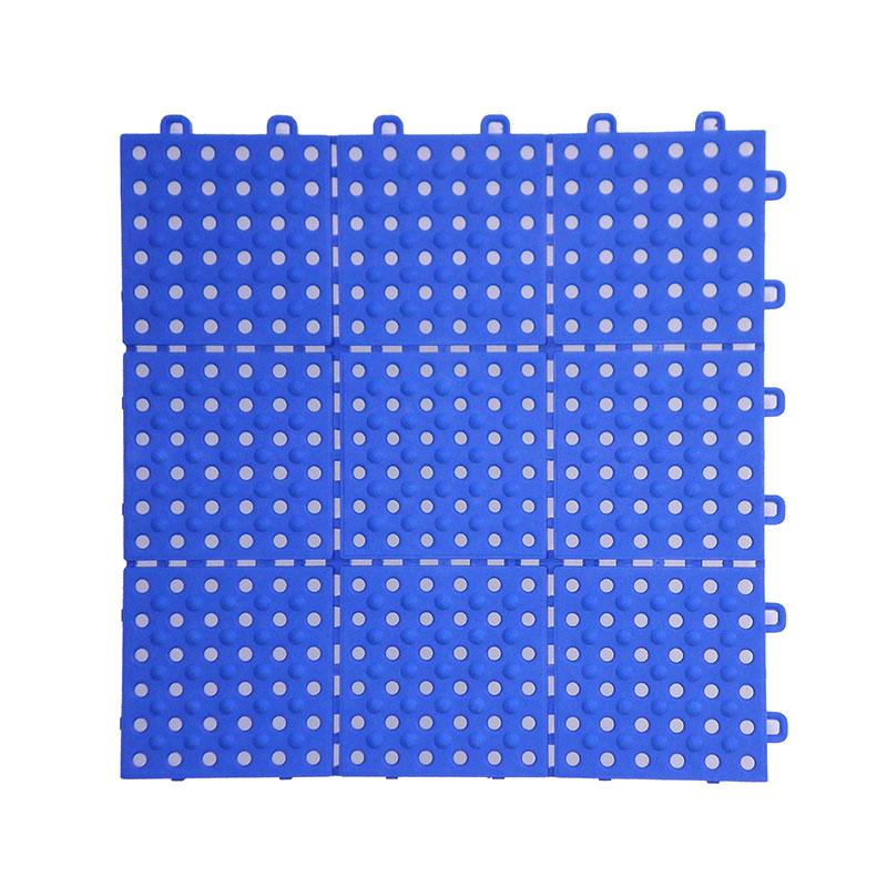 チェッカー パレスチェッカー ブルー 30枚入 13x300x300 耐スパイク用水切り みずわ Lク 代引不可