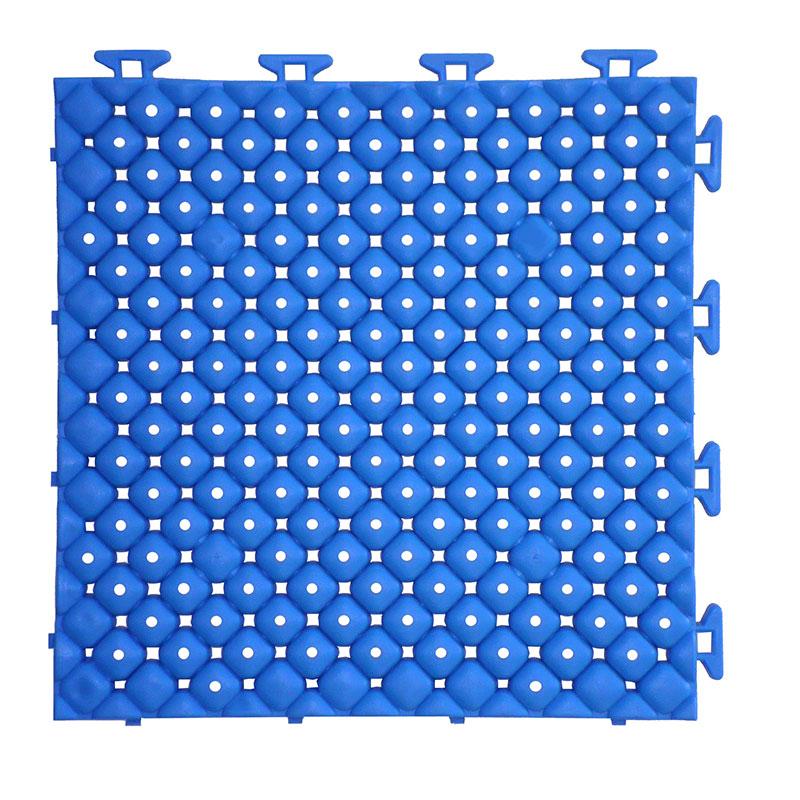 チェッカー プールクッション ブルー 32枚入 15x250x250 プール底衝撃吸収材 みずわ Lク 代引不可