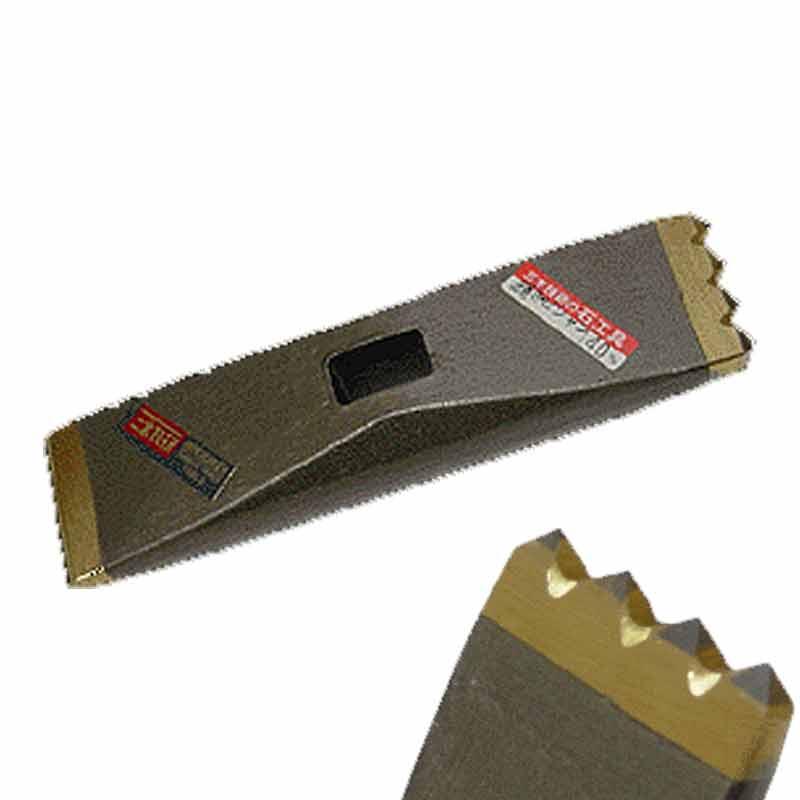 石材加工具 叩きビシャン 超硬 C-55 40mm 樫柄330mm付き 304 石材 の切り割り 荒形状 造り ブロック 高圧焼結 三木技研 三富D