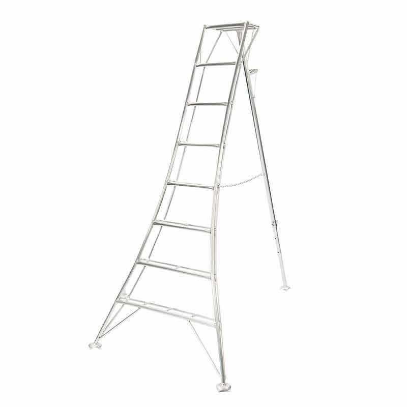 はしご 三脚 超軽量 ALD-12S 12尺 3.42m アルミ製 強度アップ 林業 園芸 現場 造園 HONKO 代引不可 個人宅配送不可
