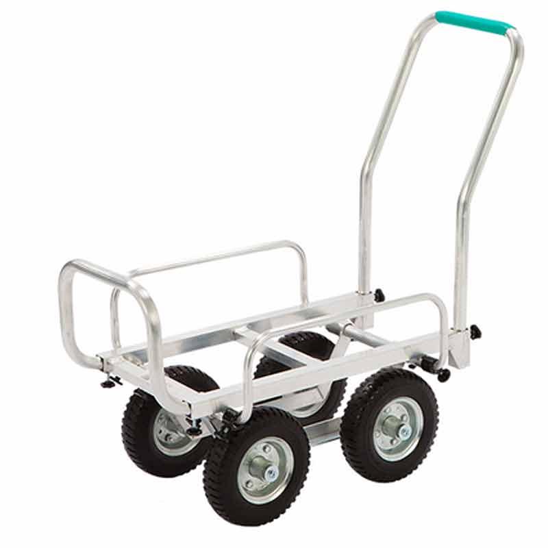 ハウスカー HONKO 代引不可 林業 SHC-3DX 伸縮式 現場 園芸 アルミ エアータイヤ 造園 台車 1個積 運搬車 コンテナ