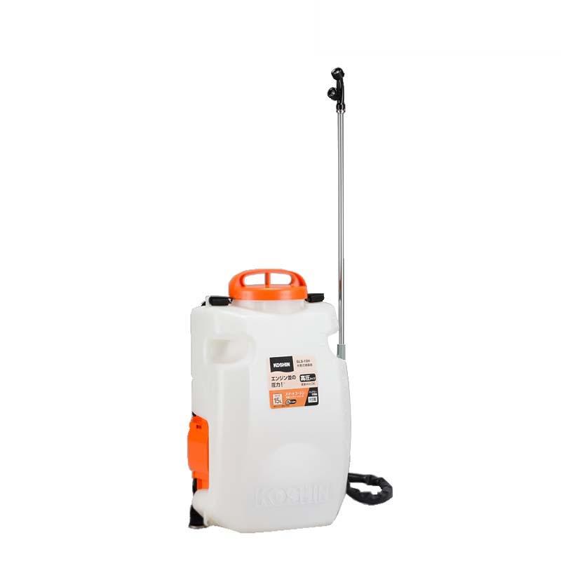 充電式噴霧器 SLS-15H 容量15L 最高圧力1.0MPa 自在一頭口噴口 / 縦型二頭噴口 重量3.8kg 工進 KOSHIN 背負式 消毒 散布 シB 代引不可
