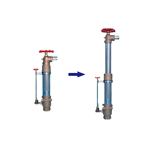 [個人宅不可] 高耐久 金属 [農業用 緑化用] 地下収納型 PUV取水栓 伸縮回転バルブ ドレーン付 PUV50A-D 共立イリゲート 防J[代引不可]