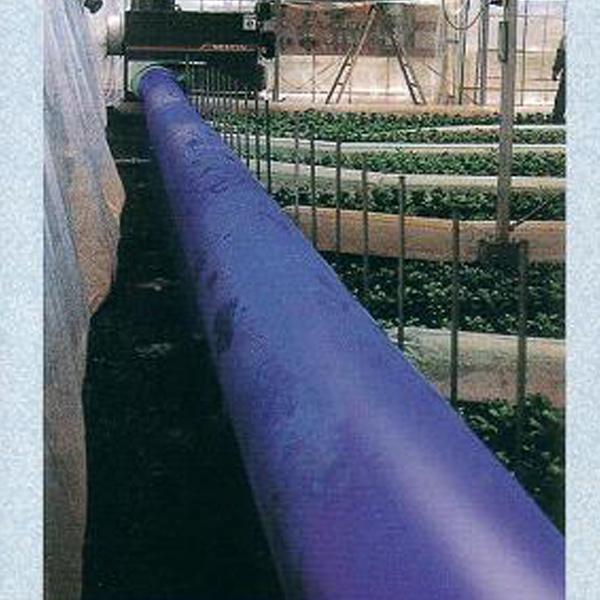 クロスラムダクト ビニールハウス用温風ダクト折径100cm×30m 厚0.14mm 極厚 高耐久 長寿命 ブルー カ施【代引不可】