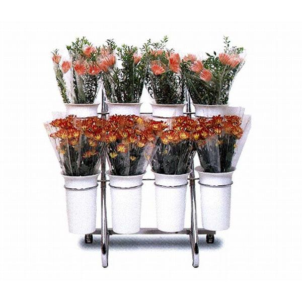 切り花 店舗什器 カジュアルフラワースタンドFタイプ (白) F2246 750×560×730mm SELON 花屋 フラワーショップ 花卉 花器 セLはが【代引不可】