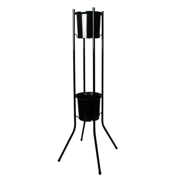 切り花 店舗什器 フラワースタンド120H黒 6台セット 20069302 直径192×190mm SELON 花屋 フラワーショップ 花卉 花器 セLはが【代引不可】