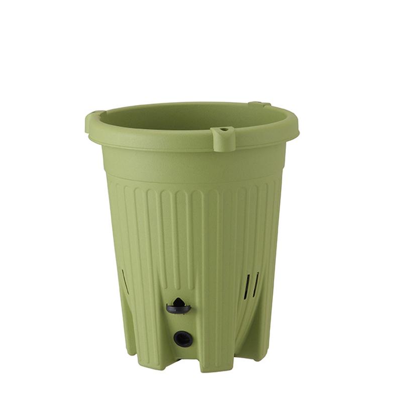 【20個】 丸型240 サラダグリーン 楽々菜園 支柱用フレーム付 ポット 鉢 おしゃれ アップルウェアー タ種D