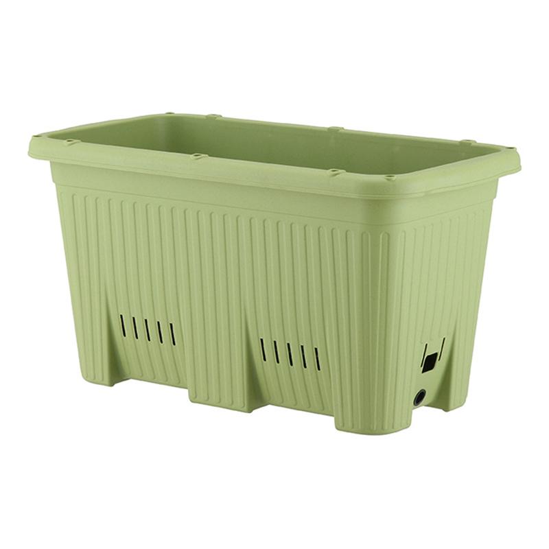 【10個】 深型600 サラダグリーン 楽々菜園 支柱用フレーム付 プランター おしゃれ アップルウェアー タ種D