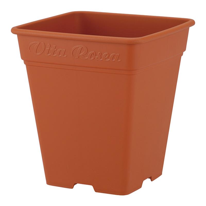 【個人宅配送不可】【北海道配送不可】【16個】 330型 ブラウン ロゼアスクエア ポット 鉢 おしゃれ アップルウェアー タ種 【代引不可】