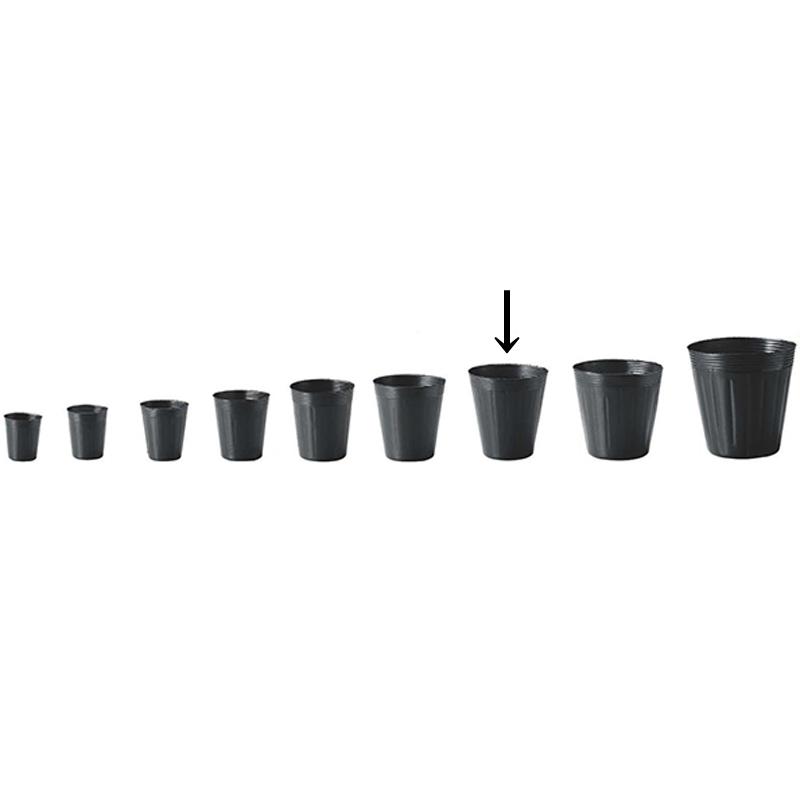 【5000個】 13.5cm 黒 TO 深鉢 ポリポット 東海化成 タ種 【代引不可】
