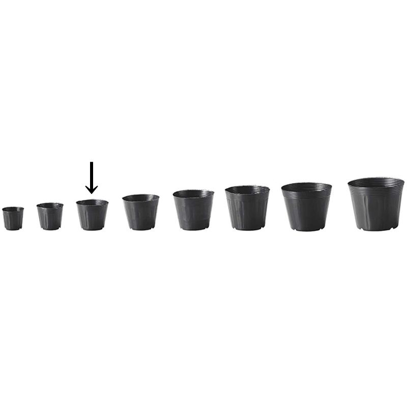 【15000個】 10.5cm 黒 TO カド穴ポット ポリポット 東海化成 タ種 【代引不可】