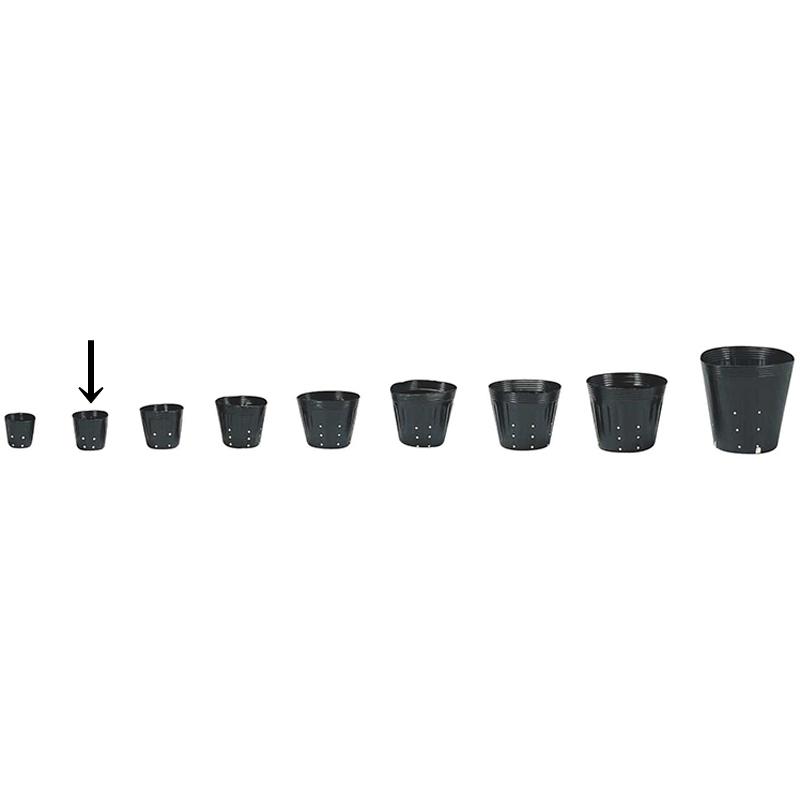 【20000個】 9cm 黒 TO ポリポット 側面穴付 ( UBタイプ ) ポリポット 東海化成 タ種 【代引不可】