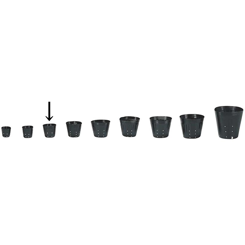 【15000個】 10.5cm 黒 TO ポリポット側面穴付 ( UBタイプ ) ポリポット 東海化成 タ種 【代引不可】